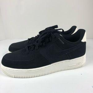 Nike Air Force 1 07 suede sneaker shoes men black